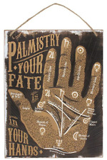 Palmistry Your Fate Hand Reading Wall Plaque Hanging Sign