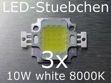3x 10w High-Power LED kaltweiss 8000k
