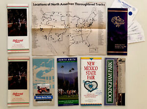 Lot of 7 Horse Racing Programs Breeders' Cup-Santa Anita-Hollywood-Rockingham