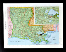 c1970 McNally Cosmo Map - Louisiana New Orleans Baton Rouge Gulf Shores Mobile