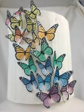 Edible Butterfly Cake Topper DIY Monarch 30pc Rainbow Rice Paper Birthday Party