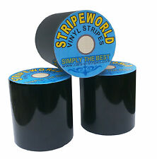 150mm Black self-adhesive vinyl stripe for car or boat. Sold by the Metre