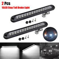 "2x 10"" LED Light Bar Stop Turn Tail Reverse Backup Truck Trailer Lights Strip"