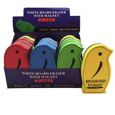 12 Lavagna Magnetica eraser asciugare Pulire Lavagna Marker Pulitore in gomma NUOVO