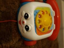 Fisher Price Retro Chatter Telephone Baby Toddler Pull Toy Dial Phone 2000