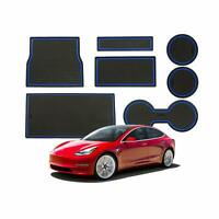 LFOTPP Tesla Model3 Anti-dust Non-Slip Interior DoorArm Box Storage Mat Pad Blue