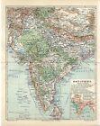 1896 INDIA CEYLON SRI LANKA TIBET NEPAL BHUTAN KASHMIR AFGHANISTAN Map dated