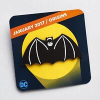 DC Comics Batman Origins Original Bat Winged Cape Logo Symbol Enamel Pin New