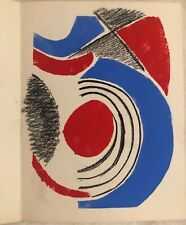 CARTE D'INVITATION SONIA DELAUNAY POCHOIR REHAUSSE 1964