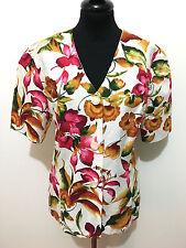 CULT VINTAGE '80 Giacca Donna Cotone Flower Woman Jacket Shirt Sz.M - 44