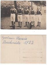 """Baviera, peso sollevatore """"BAVARIA"""", FORZA SPORT, sporty volte culturismo RPPC 1922 gay"""