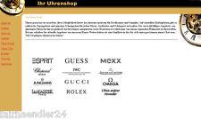 UHRENSHOP WEBPROJEKT - VERSANDHANDEL Website für Uhrenhändler WEBSEITE E-LIZENZ