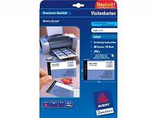 PAPIER AVERY 200 CARTES VISITE 260g 54x85mm Mat DOUBLE FACE / df pour cartes de