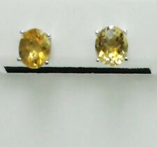 Citrine  Earring in Sterling Silver 8x10mm  5.60cts