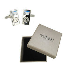 Mens Mp3 Player Gadget Novelty Cufflinks & Gift Box By Onyx Art