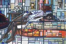 """African American Black Art """"ENOUGH CHOCOLATE"""" a Giclee' by Charly Palmer"""