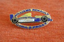 13597 PIN'S PINS AUTO CAR F1 FORMULE 1 WILLIAMS RENAULT CANON ELF HILL PROST