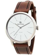 Rip Curl DRAKE LEATHER WATCH Mens Waterproof Watch New - A2900 White