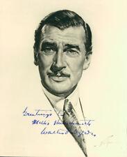 Walter Pidgeon (Vintage, Inscribed) signed photo COA