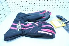 Coldwave Sno Fire Womens Ladies Black/Pink Snowmobile Cold Weather Gloves Size L