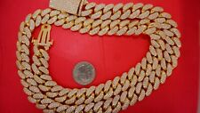 500 Grams 10k Solid Gold Miami Cuban Link Chain Prong 1500 Diamonds 45 Carats