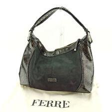 Gianfranco Ferre Shoulder bag Brown Woman unisex Authentic Used L1112
