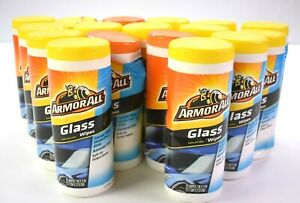 Lot 17 Armor All Glass Wipes Crystal Clear Streak Free Shine 25 Wipes Per Pack