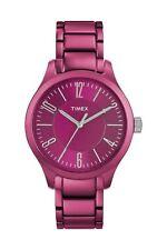 Timex Damenuhr Aluminium Pink Analog Quarz T2P110CC
