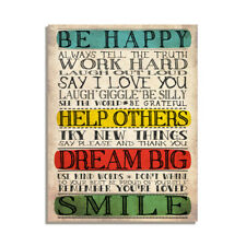 Be Happy Help Others Dream Big Smile Kind Friendship Gift Fridge Magnet 4x3 inch