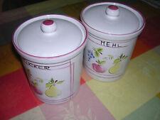 2 Vorratsgefäße  Porzellan Mehl und Zucker