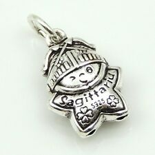 S925 Stamped Sterling Silver Sagittarius Horoscope Zodiac Baby Star Pendant