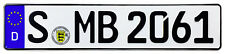 Mercedes Stuttgart Front German License Plate by Z Plates wtih Unique Number NEW