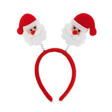 b642a7581d5 Christmas Santa Claus Head Headband Boppers Xmas Red Party Unisex Fancy  Dress