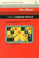 The Attack (Ti-99/4a, 1980) Arcade Game Cartridge & Mint Manual Tested