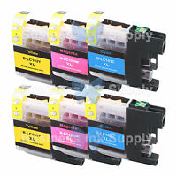 6 COLOR New Chip LC103XL 101 Ink Cartridge for Brother MFC-J650DW MFC-J870DW