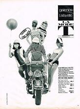 PUBLICITE ADVERTISING 084  1963  GALERIES LAFAYETTE  la mode  TEE RAYE