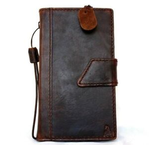 genuine retro Leather case for Nokia Lumia 1520 book Wallet cover magnet brown