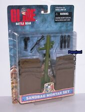 "G.I. Joe Battle Gear Sandbag Mortar Set New In Pack 12"" 1/6 Figures Hasbro 1998"