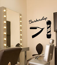 Vinyl Wall Decal Barbershop Hairdressing Salon Logo Signage Stickers (3119ig)