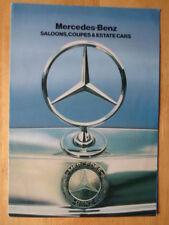 MERCEDES BENZ RANGE orig 1982 UK Mkt Brochure - 280 380 500 SE SEL SL SLC Limos