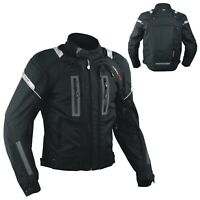 Motorcycle Jacket CE Armored Apparel Textile Warterproof 4 layer Black