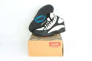 NOS Vintage 90s Avia Mens 12 951 MWXG Spell Out Basketball Shoes Sneakers White