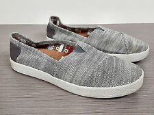 Toms 'Classic' Canvas Slip-On Grey & White Womens Size 7