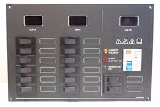 14 Way AC/DC Switchable (Carling tech) circuit breaker panel with meters & RCD