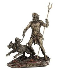 "9"" Hades Greek Lord of the Underworld w/ Cerberus Statue Dead Figurine Museum"