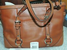 NEW Coach Leather Gallery Tote Walnut Brown Purse Handbag Carryall