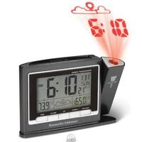 Projection Alarm Atomic Clock Weather Monitor Large LCD Screen Number AC/Battery