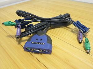Linksys ProConnect (KVM2KIT) Integrated 2-Port External KVM Cable PS/2 VGA