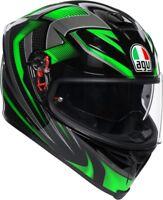 Casco integrale moto Agv K5 s Hurricane 2.0 nero verde black green Kawasaki