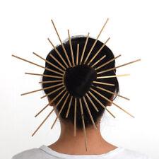 Women Halo Hair Bun Band Crown Headpiece Zip Tie Spiked Saint Mary Headpiece